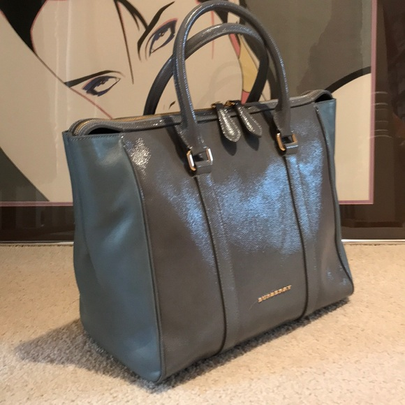 8296bbb76793 BURBERRY PRORSUM CHATTON Tote Storm Gray Bag NWT